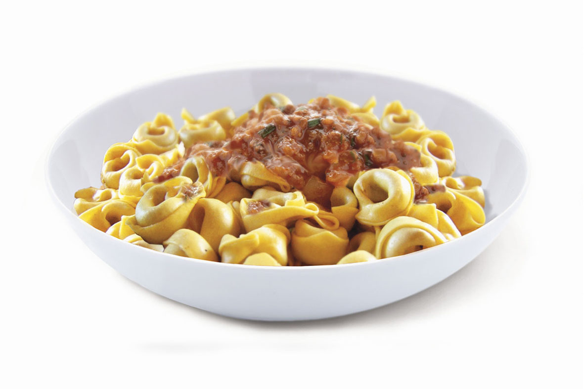 Tortellini with meat sauce
